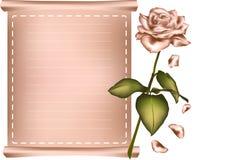 Grußkarte mit Rosarose. Lizenzfreie Stockfotos