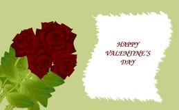 Grußkarte mit Rosen stock abbildung