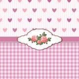 Grußkarte mit Rosen und Inneren Stockbilder