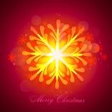 Grußkarte mit Schneeflocken-FO-Weihnachten stock abbildung