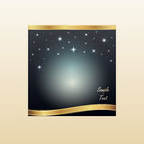 Grußkarte mit Sternen Lizenzfreie Stockfotos