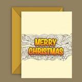 Grußkarte mit Umschlag für Weihnachten stock abbildung