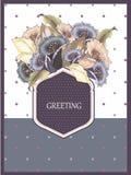 Grußkarte mit Zusammenfassung blüht Glockenblumen Lizenzfreies Stockfoto