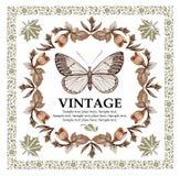 Grußkarte. Schmetterlinge. Schöner Rahmen. Lizenzfreies Stockfoto