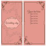Grußkarte während Ihres Hochzeitstags Stockfotografie
