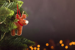 Grußkarte Weihnachtsdekorationskalender Stockbild