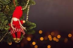 Grußkarte Weihnachtsdekorationskalender Lizenzfreies Stockfoto