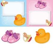 Grußkarten für Geburt stock abbildung