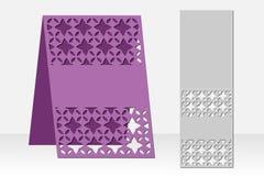 Grußkarten-Laser-Ausschnitt Schattenbilddesign Ethnisches Muster Lizenzfreie Stockfotos