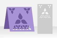 Grußkarten-Laser-Ausschnitt Schattenbilddesign Muster Stockfoto