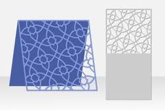 Grußkarten-Laser-Ausschnitt Schattenbilddesign Muster Stockbilder