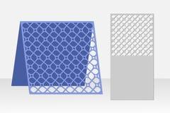 Grußkarten-Laser-Ausschnitt Schattenbilddesign Muster Stockfotografie