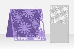 Grußkarten-Laser-Ausschnitt Schattenbilddesign Muster Lizenzfreie Stockbilder