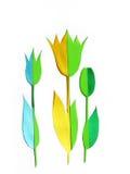 Grußkartenauslegung mit Blumen Stockbild