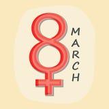 Grußkartendesign für Feier der glücklichen Frauen Tages Stockfoto