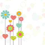 Grußkartendesign für Valentinstagfeier Lizenzfreie Stockfotografie