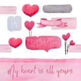 Grußkartendesigne für Valentinsgruß ` s Tag lizenzfreie abbildung