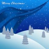 Grußkartenhintergrund der frohen Weihnachten Stockfotografie