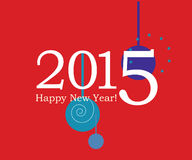 Grußkartenillustration 2015 Lizenzfreies Stockbild