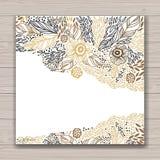 Grußkartensatz mit abstraktem Hintergrund Stockbilder