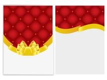 Grußkartenschablone Stockbild