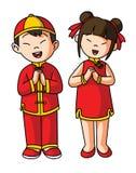 Grußpaare für chinesisches guten Rutsch ins Neue Jahr Lizenzfreies Stockfoto