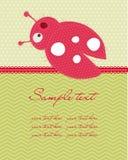 Grußschätzchenkarte Stockfotografie