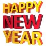 Grußtext des glücklichen neuen Jahres (Mieten) Stockfotografie