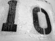 Grußvektor lokalisiert auf schwarzem Hintergrund Lizenzfreie Stockfotos