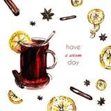 Grußweinkarte Lizenzfreies Stockfoto