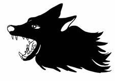 Gruñido del lobo Imagen de archivo