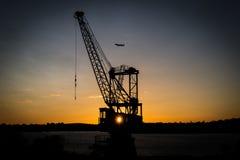 Gru al porto Sydney immagini stock