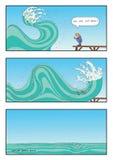 Gru a benna della natura indietro royalty illustrazione gratis