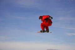 Gru a benna dello Snowboard Fotografie Stock