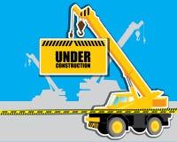 Gru con il vettore in costruzione Fotografia Stock