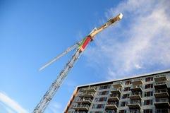 Gru, costruzione di appartamento, Canada Fotografia Stock