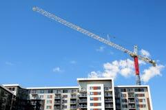 Gru, costruzione di appartamento, Canada Immagine Stock