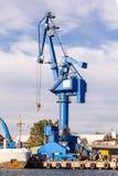 Gru del blu di Hogh Fotografia Stock Libera da Diritti