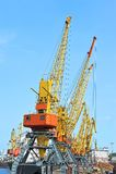 Gru del carico del porto Immagine Stock