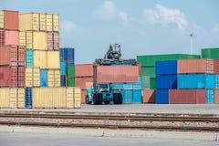 Gru del container Fotografia Stock