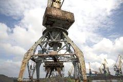 Gru del porto Fotografia Stock