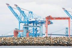 Gru del porto di Los Angeles immagine stock