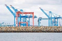 Gru del porto di Los Angeles fotografia stock libera da diritti
