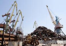 Gru del porto marittimo Fotografia Stock Libera da Diritti