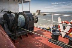 Gru dell'ancora della barca Immagini Stock Libere da Diritti