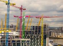 Gru dell'orizzonte di Londra Fotografia Stock