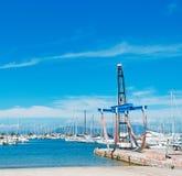 Gru della barca Fotografia Stock