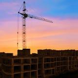 Gru della costruzione Immagini Stock Libere da Diritti