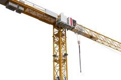 Gru della costruzione su fondo bianco Fotografia Stock Libera da Diritti