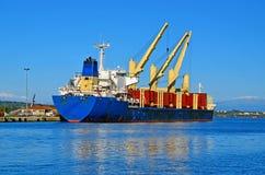 Gru della nave Fotografia Stock